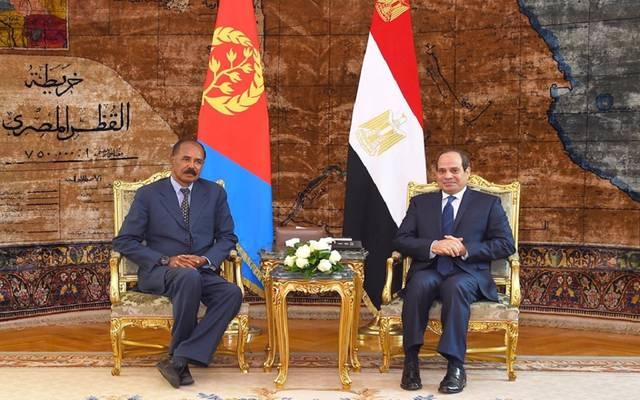 الرئيس السيسي خلال جلسة مباحثات مع نظيره الإريتري