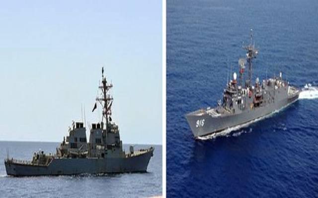 قطع عسكرية مشاركة في تدريبات القوات البحرية المصرية والأمريكية