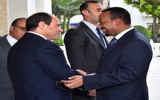 رئيس الوزراء الإثيوبي خلال لقاء الرئيس السيسي