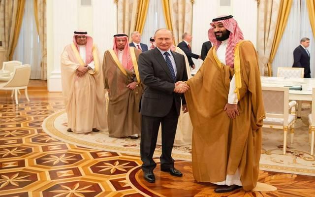 الأمير محمد بن سلمان خلال استقبال الرئيس الروسي
