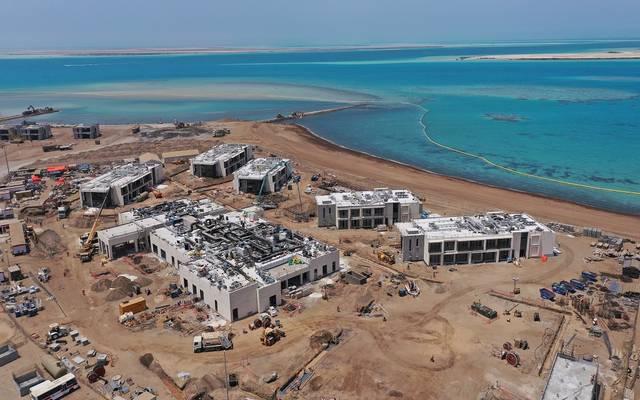 الأعمال الإنشائية لمدينة الموظفين في مشروع البحر الأحمر السياحي بالسعودية