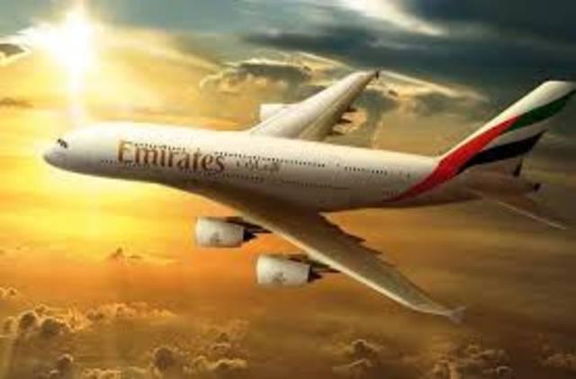 إحدى الطائرات التابعة لشركة طيران الإمارات