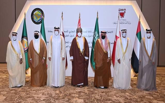 على هامش اجتماع وزراء التجارة بدول مجلس التعاون في مدينة المنامة بالبحرين