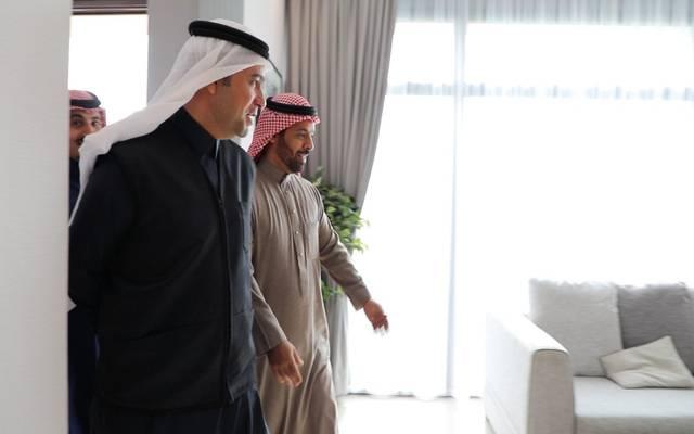 """وزير الإسكان السعودي ماجد الحقيل خلال تفقده لمشروع """"سرايا الغروب"""""""