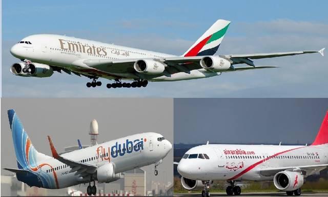 طائرات تابعة لشركات الطيران الإماراتية