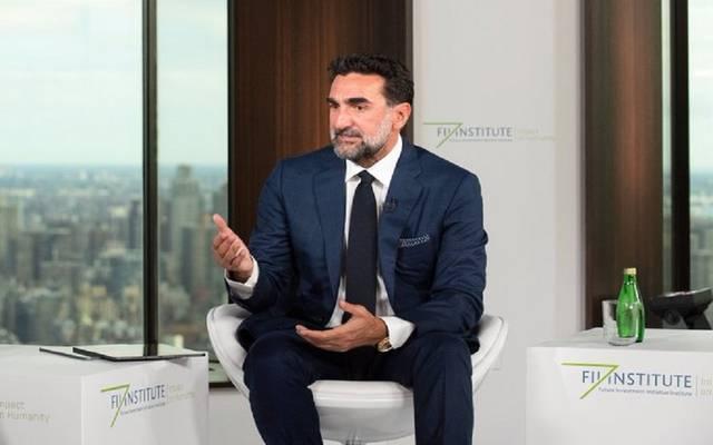 محافظ صندوق الاستثمارات العامة السعودي، ياسر الرميان خلال الجلسة الحوارية الافتراضية