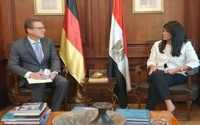 وزيرة التعاون الدولي تلتقي السفير الألماني الجديد لدى القاهرة