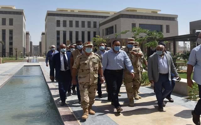 مصطفى مدبولي خلال زيارة للعاصمة الإدراية الجديدة