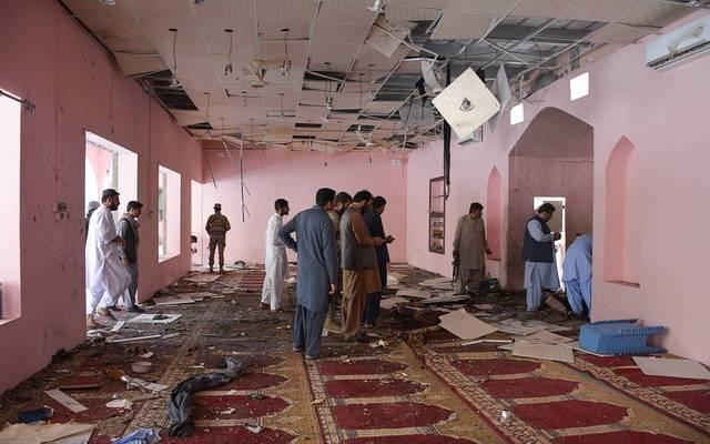 صورة للانفجار في مسجد بباكستان