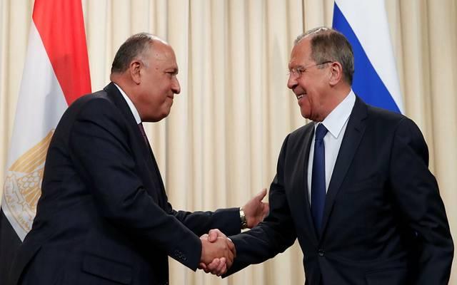 وزيرة الخارجية المصري ونظيره الروسي