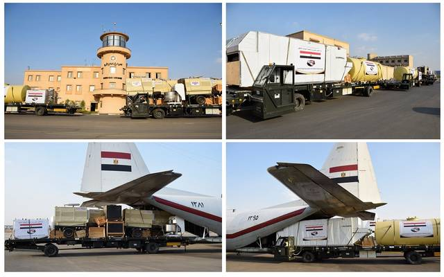 مصر ترسل الرحلة الرابعة لخطوط إنتاج الخبز الميدانية للأشقاء في السودان