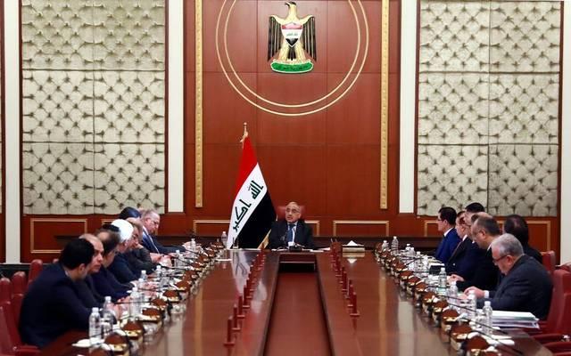 جانب من اجتماع مجلس الوزراء برئاسة عادل عبد المهدي