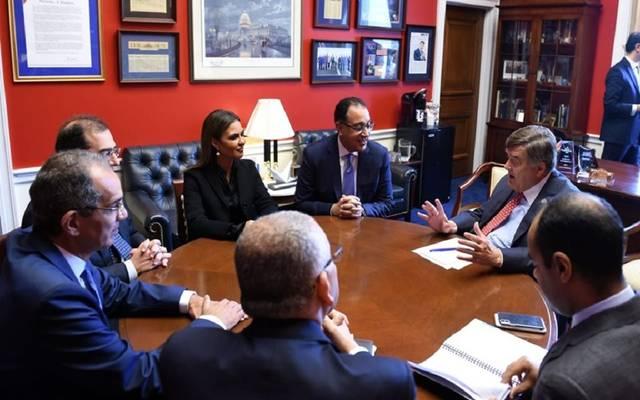 رئيس الوزراء خلال لقاء نائبي الكونجرس الأمريكي