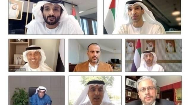 جانب من إعلان وزارة الاقتصاد الإماراتية تشكيلها فريق عمل مشتركاً مع مجلس الشركات العائلية الخليجية