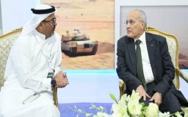 """الوزير العصار مع رئيس شركة """"أي جي جي"""" الإماراتية"""