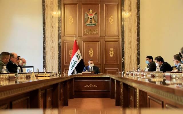 جانب من لقاء رئيس الوزراء العراقي مصطفى الكاظمي مع عدد من المسؤولين الحكوميين