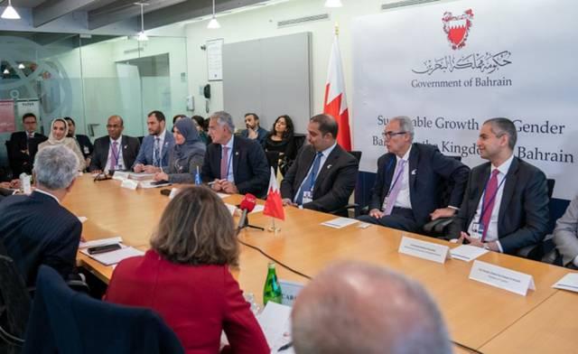 صورة الوفد البحريني خلال الاجتماع