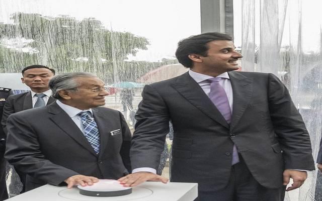 أمير قطر و رئيس وزراء ماليزيا - أرشيفية