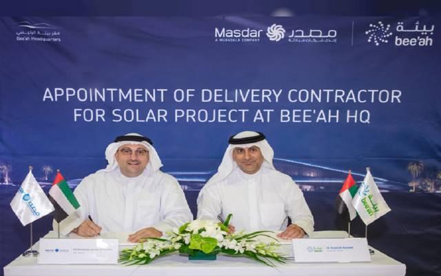 """""""بيئة"""" تتعاون مع """"مصدر"""" الإماراتية لبناء محطة للطاقة الشمسية"""