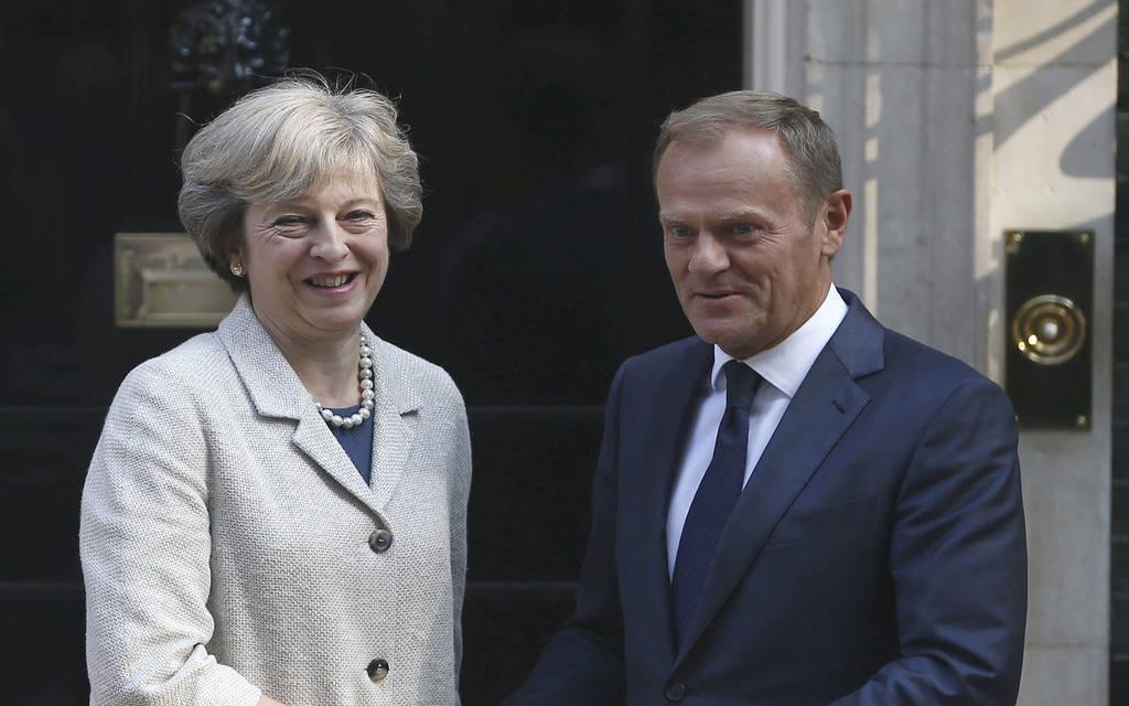 ماي: أجريت نقاشاً قوياً مع رئيس المجلس الأوروبي بشأن البريكست
