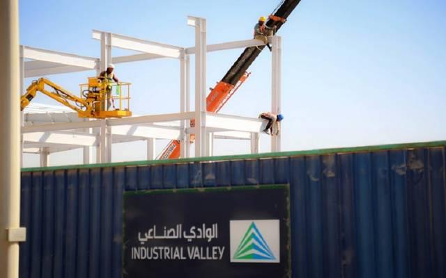 جانب من الوادي الصناعي في مدينة الملك عبدالله الاقتصادية