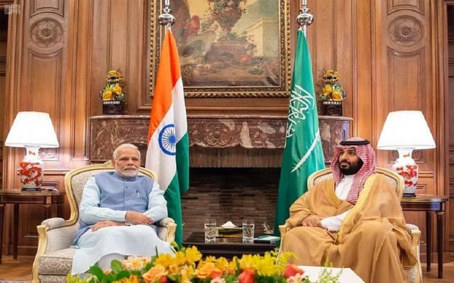ولي العهد خلال لقاء سابق مع رئيس وزراء الهند