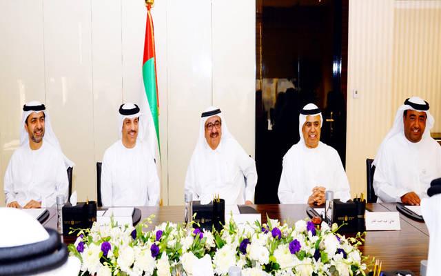 اجتماع مجلس إدارة الهيئة الاتحادية للضرائب الإماراتية، الصورة من بيان صحفي