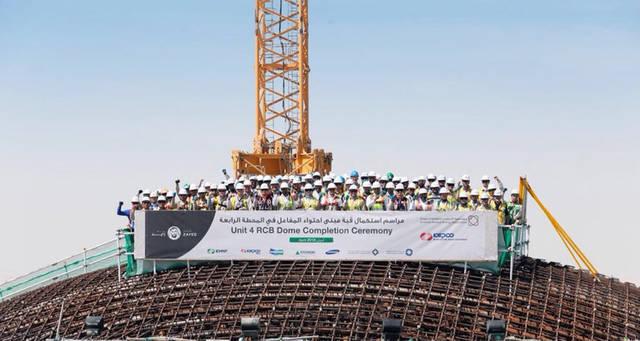 """الإمارات تستكمل بناء قبة مبنى آخر مفاعلات """"براكة"""""""
