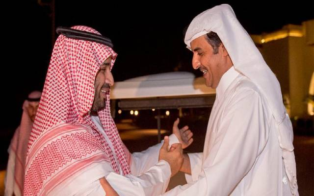 الأمير محمد بن سلمان والشيخ تميم بن حمد - صورة أرشيفية