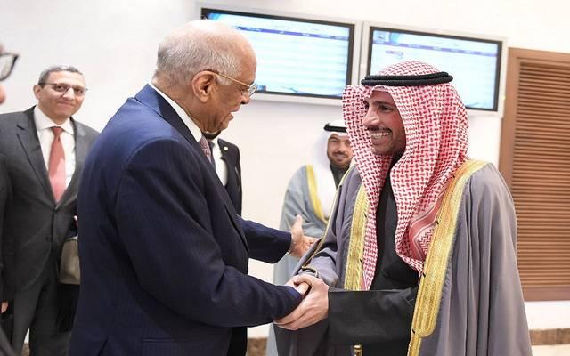 رئیس مجلس الأمة الكويتي في استقبال على عبد العال