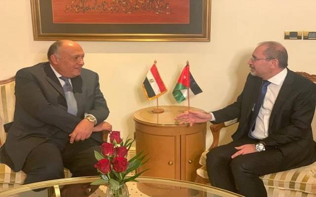 وزيرا خارجية مصر والأردن خلال لقاء في بيروت اليوم السبت