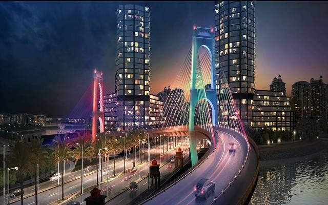 جسر مدخل جزيرة جيوان التي تنفذها الشركة