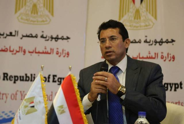 Egypt's minister of youth and sports Ashraf Sobhi