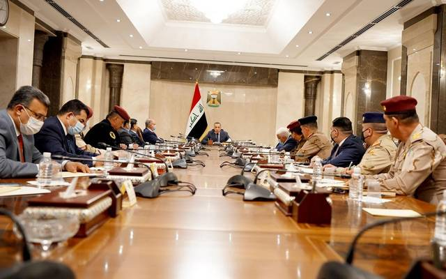 رئيس مجلس الوزراء العراقي القائد العام للقوات المسلحة، مصطفى الكاظمي، يرأس اجتماعاً للمجلس الوزاري للأمن الوطني