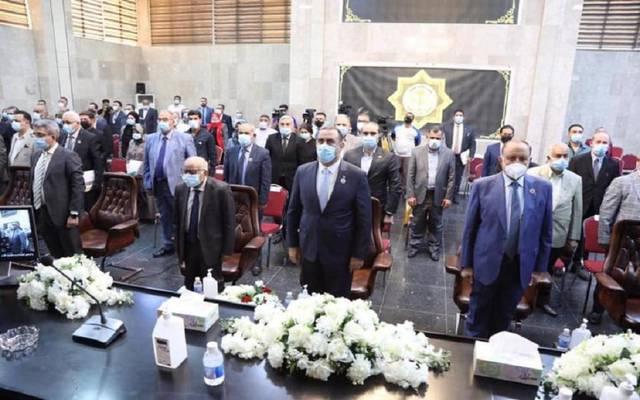 وزير التخطيط العراقي خالد بتال النجم خلال افتتاحه المؤتمر الإحصائي السنوي الخامس عشر