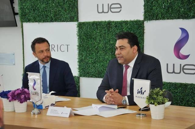 Basil Ramzy, CEO of Marakez, and Adel Hamed, CEO of Telecom Egypt