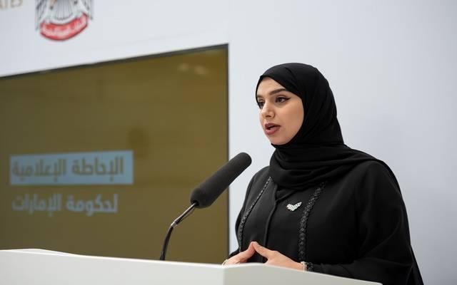 الدكتورة آمنة الضحاك الشامسي، المتحدث الرسمي عن حكومة الإمارات