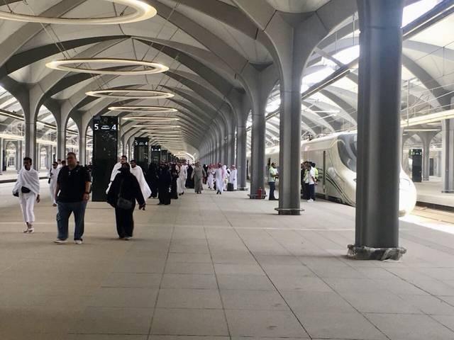 إحدى محطات قطار الحرمين السريع بالسعودية