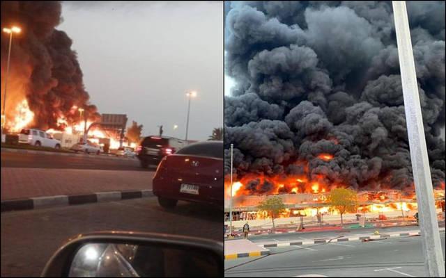 حريق سوق عجمان