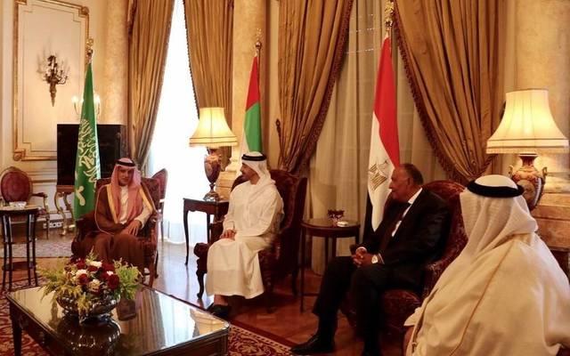 اجتماع سابق لوزراء خارجية الدول الأربع في القاهرة