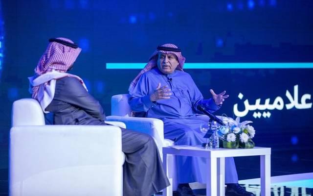 وزير الخدمة المدنية السعودي سليمان الحمدان خلال لقاء بالإعلاميين
