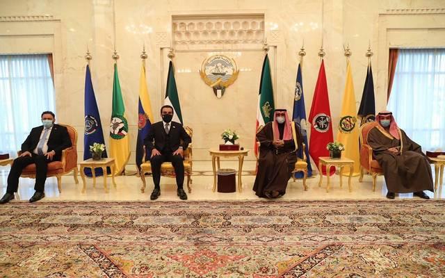 خلال لقاء رئيس مجلس النواب العراقي محمد الحلبوسي مع أمير الكويت الشيخ نواف الأحمد الجابر الصباح