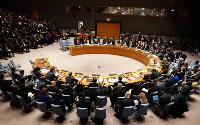 جانب من اجتماع مجلس الأمن في نيويورك