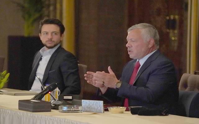 ملك الأردن وولي العهد خلال الاجتماع