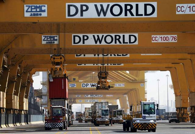 أحد الموانئ التابعة لشركة موانئ دبي العالمية