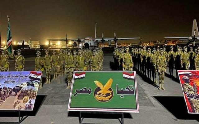جانب من القوات المصرية المشاركة في تدريب حماة النيل
