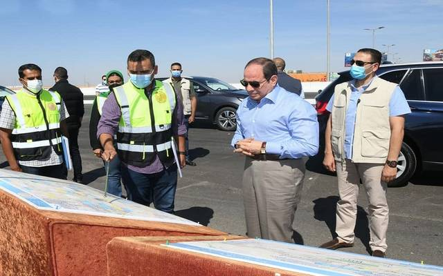 الرئيس عبد الفتاح السيسي خلال جولة تفقدية