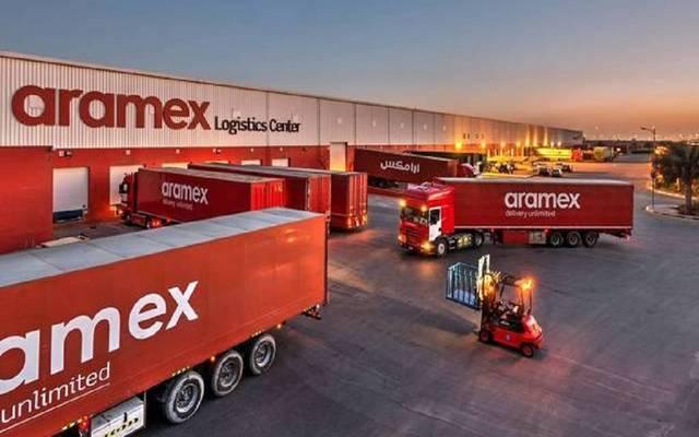 إحدى شاحنات شركة أرامكس