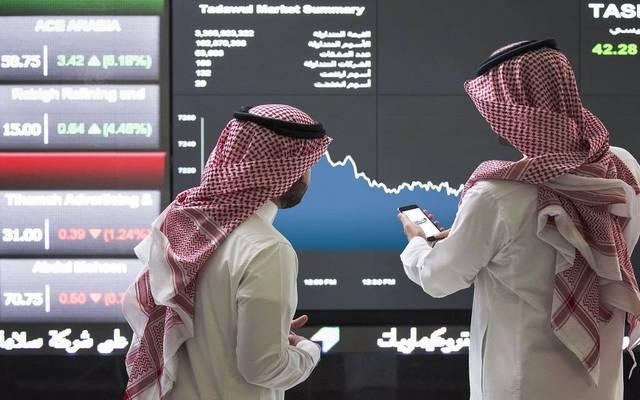 متعاملان بسوق الأسهم السعودي، تداول