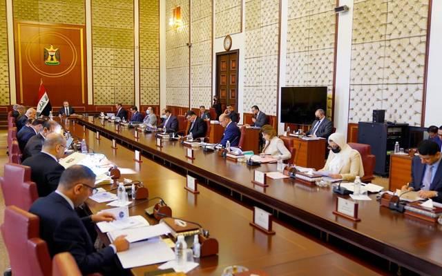 جانب من اجتماع مجلس الوزراء العراقي الأسبوعي